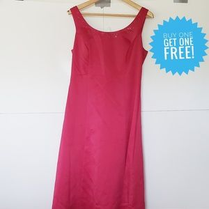 David's Bridal Red Formal Dress Gown Size 10